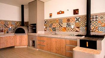 espaços para churrasqueira pré-moldada